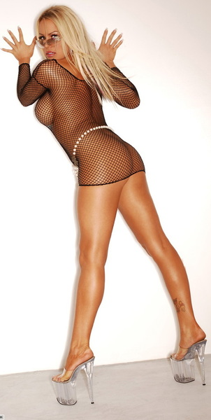 Bobbi Billard in Black Fishnet