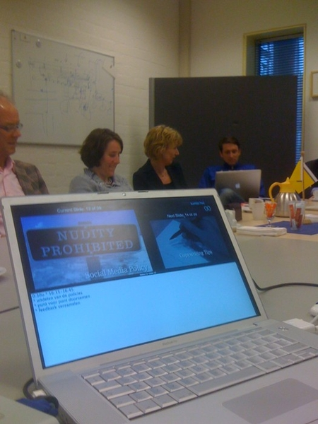 2nd workshop with Dutch railways trainees! talking about social media policy. #in NS office Utrecht.