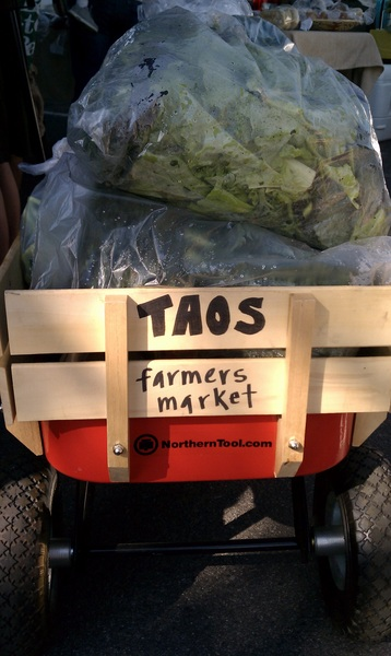 Busy day already at #Taos, #NM #farmersmarket