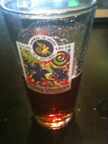 Ahh yaaa!! This pint of @FlyingMonkeys at Taps & Tales is superb - good 1st stop on the EAST #Cass/Troypubcrawl #ocbweek