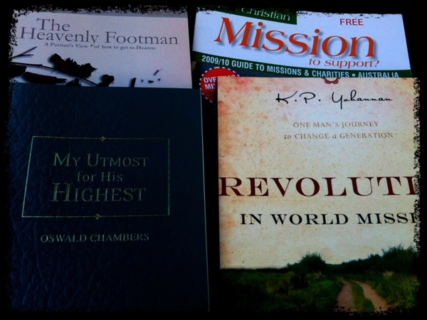 Koorong, bought 2 books then got a free one + a magazine! yeah!!