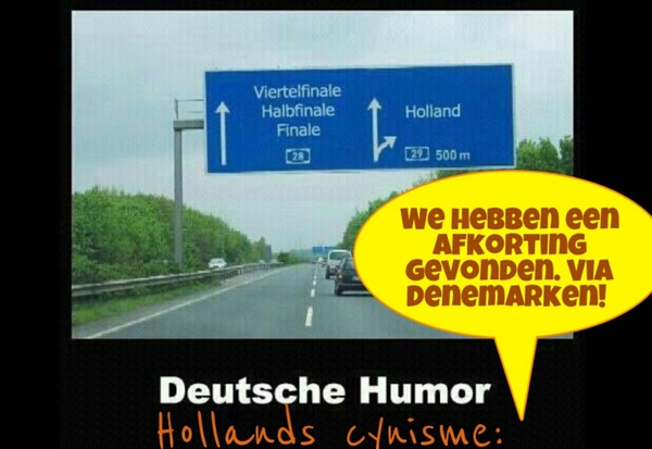 Duitse humor  vs Hollands cynisme #NedDe