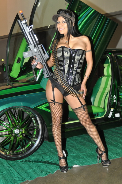A #MexiMILF with a gun?! @GabbyQuinteros is loaded ~ follow & retweet if you like it!