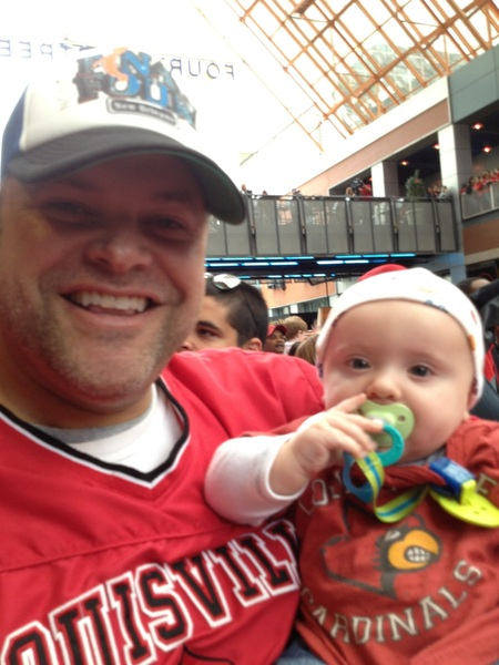 Happy Fathers Day to all the Cardinal Dads. Let's raise our little Cards fans up right. #UofL #L1C4 #CardNation