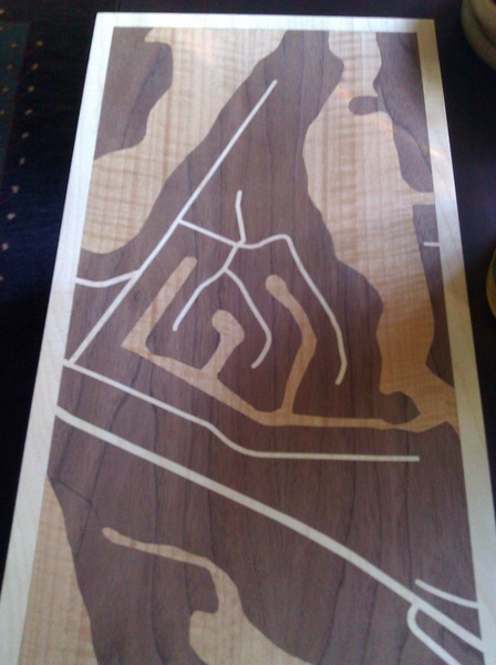 The anniversary woodcut map I got for n arrived. It is pretty cool.