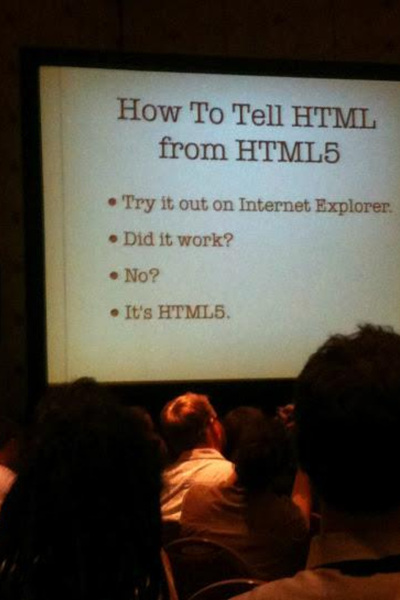 is it HTML5? if it doesn't work in IE, it is joke