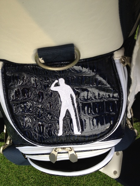 Nice touch using Seve&#039;s image on our golf bags this week. 