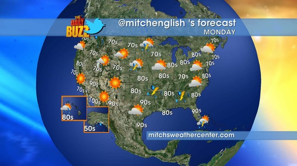 Here&#039;s TOMORROW&#039;s weather forecast. Be sure to follow @mitchsweather for weather 2x a day! #weather