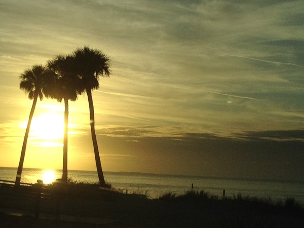 Watching the Sunset :) can't believe it's 75 degrees out :) I love Florida! Happy Holidays everyone!!!!