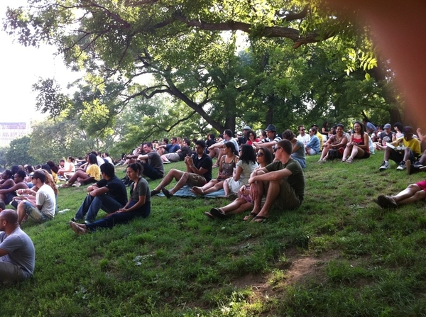 The BK on a perfect afternoon. Music festival a Ft Greene Park.