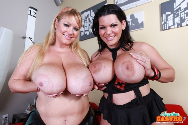 Monster Tatas! ( . )( . ) X 2 ~~ @AngelinaCastroX   @Sam38G ~follow & RT if you like!