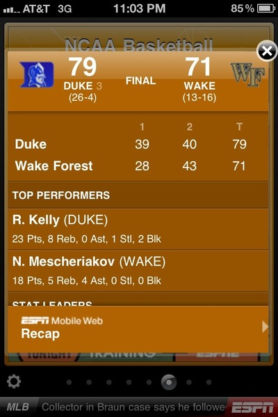 And #DUKE wins yet again...can't wait till March Madness.