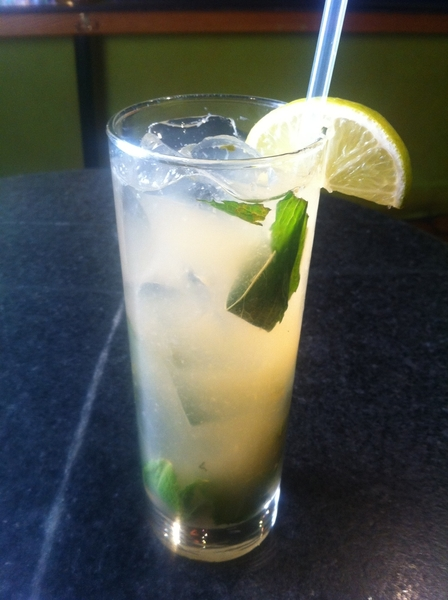 Another seasonal cocktail goes live tonight: fresh ginger mojito w a splash of 10-yr brandy