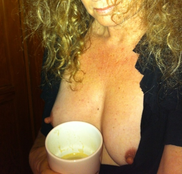 Enjoying my first morning coffee   #milf