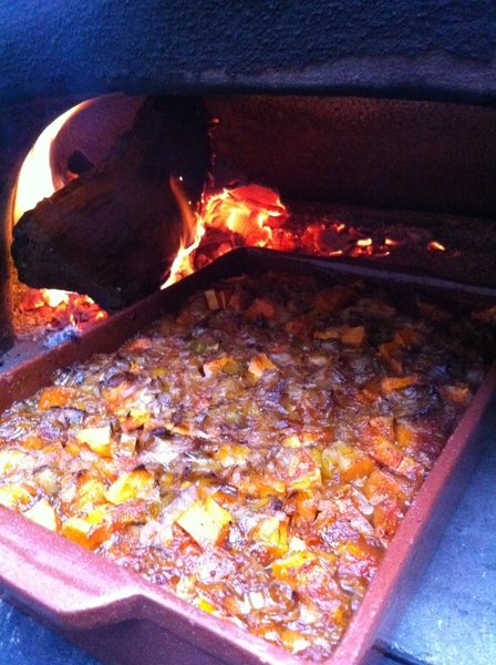 Saved butternut from garden for TG. Carm leeks, Calamundin orange, smoky  pasilla, garlic
