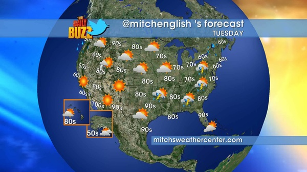 Wake up tomorrow morning w/your hosts @ajacksontv @tvandy @kiamalone & @mitchenglish  Here's tomorrow's forecast #weather