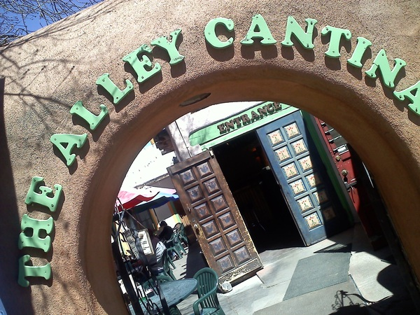 A perfect day for fish n chips and a margarita at The Alley Cantina! #Taos #NM