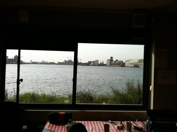 Uitzicht over Amsterdam vanuit de press room #picnic11