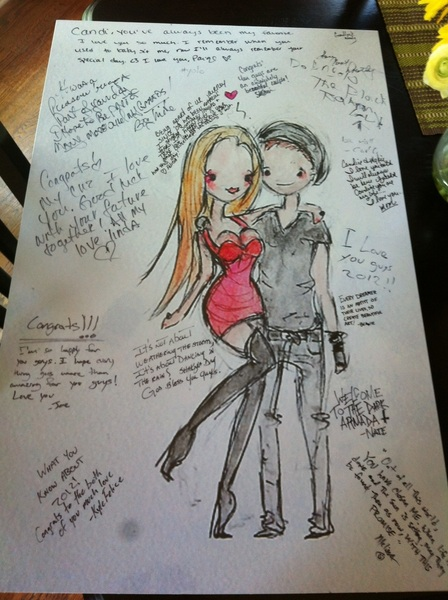 @XanderisAlright we had our guests sign the drawings made of us :) thank u again