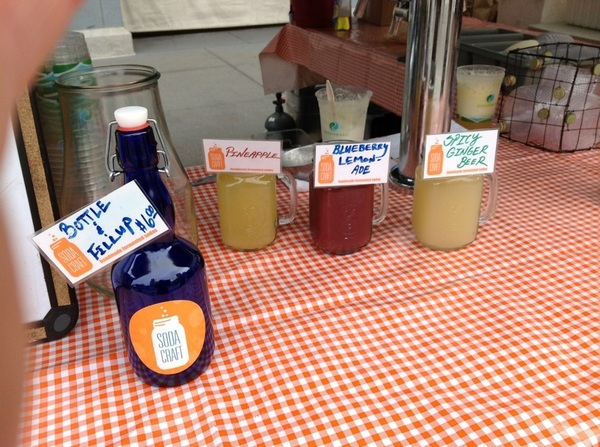 Today @ the ferry plaza market pineapple mint, apple lemon and ginger beer ask about batch 1 root beer 