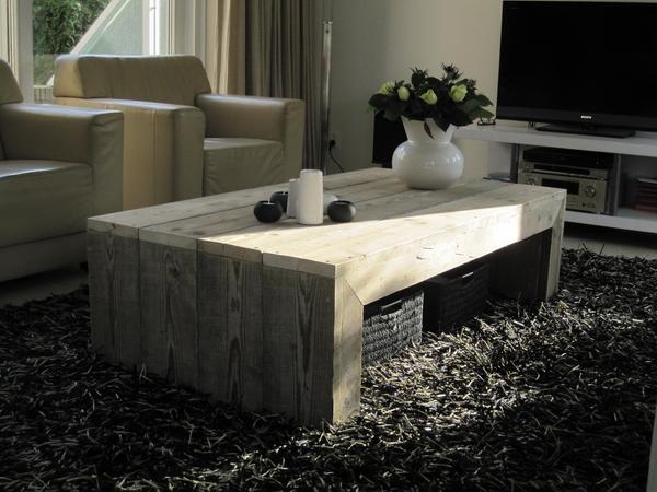 Steigerhout salontafel zelf maken for Steigerhout tuinmeubelen zelf maken