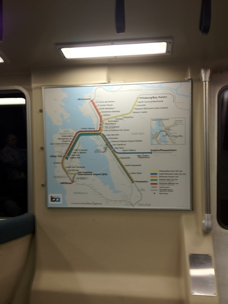On BART train to downtown SF ..... a lot cooler than expected !