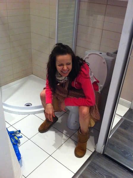 Look at @kinkydirtybitch using the loo in ikea lol