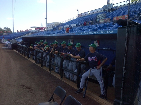 The fellas are wearing green hats today...here in Port St. Lucie: