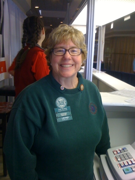 @judiwindow is at the cash register for #madeinnhexpo #NHGSA 