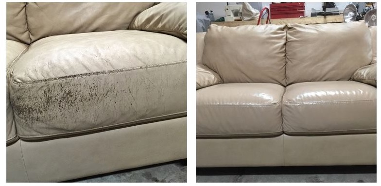 Leather Sofa Repair By Fibrenew Nw Columbus Fibrenewnwcolumbus On Mobypicture
