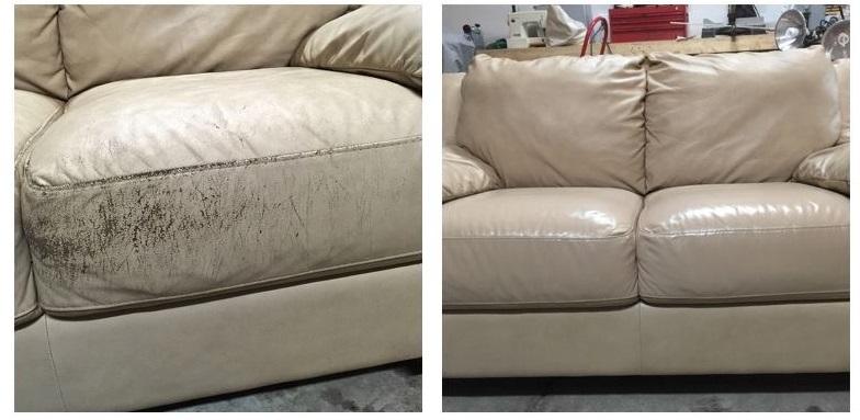 Leather Sofa Repair By Fibrenew Nw Columbus