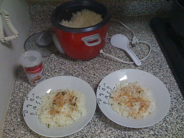 Rice with furikake