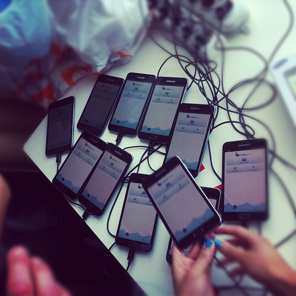 I got phones for days. #TNW #Moby