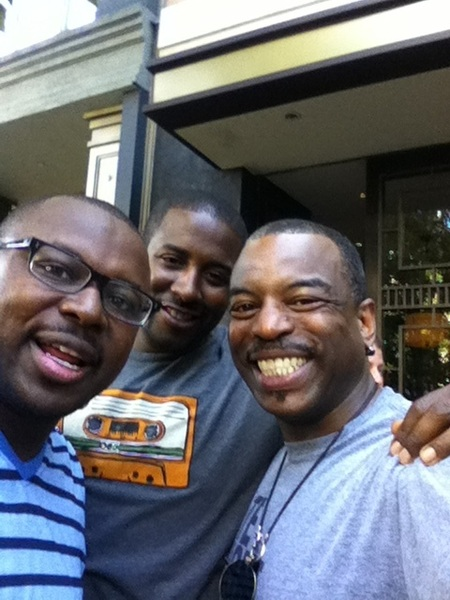Hanging on Santana Row with my sons...