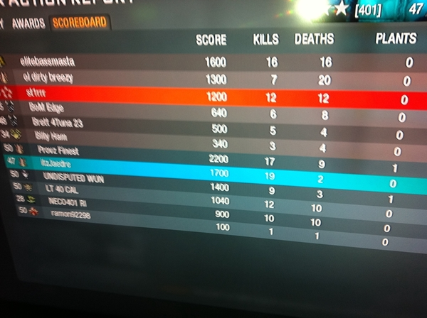 I go to end the night on a good note! Add me itzjaedre on 360 iamjaedre on PS3