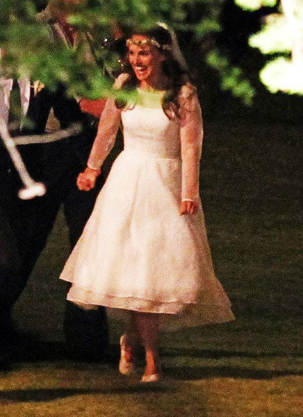 First Look at Natalie Portman's wedding dress...My guess is Valentino..