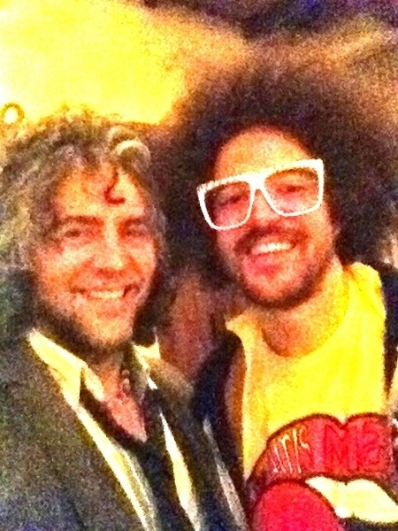 Hangin with the dude from LMFAO!! Ha ha!!!!