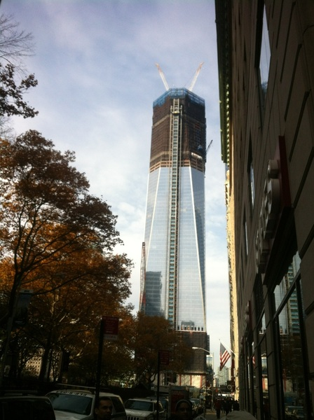 Good to see the new World Trade Centre buildings taking shape