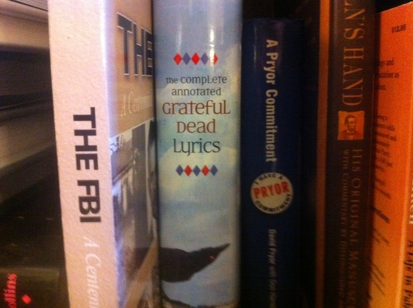 Spotted on Sen. Pat Leahy's bookshelf: