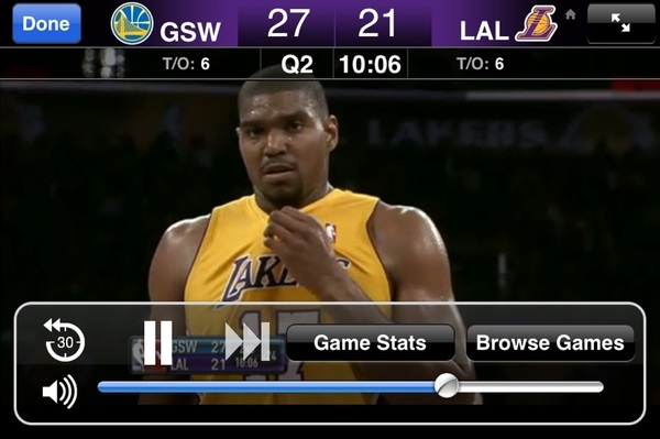 Watching the game on my iPhone. This app is a must have.
