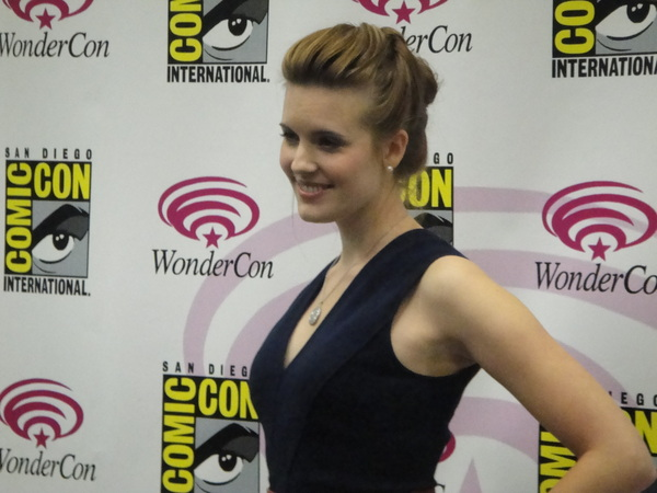 The lovely Maggie Grace at WonderCon.  #Lockout