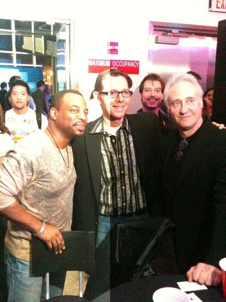 Oh yeah - @jaffejuice (I tweet in the third person), @Levarburton and @brentspiner in the house - great guys!