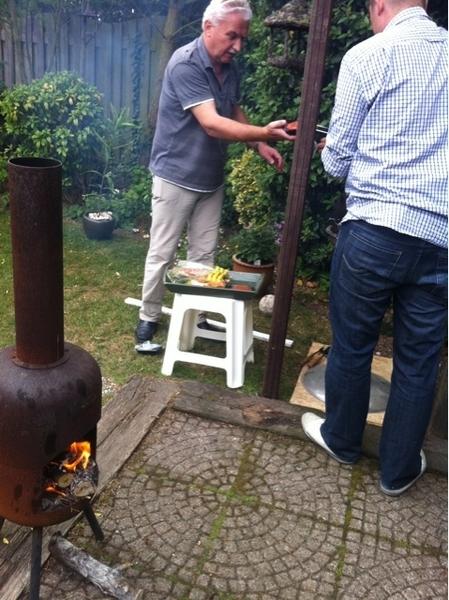 BBQ bij m'n ouders :) #pyromaan