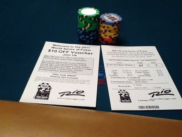Brutal. Only got a $10 food voucher for this $10,000 poker tournament. #firstworldproblems