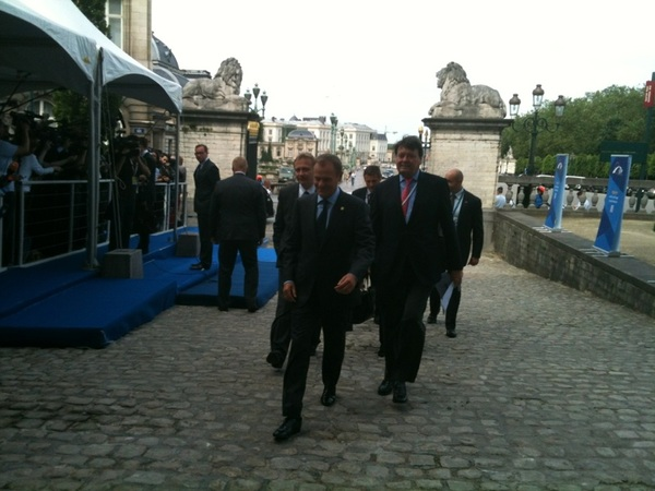 PM Donald #Tusk arriving at the #EPP Summit #Platforma #Poland #euco