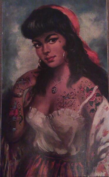 gypsy tattoo. gypsy tattooed by famouslefty