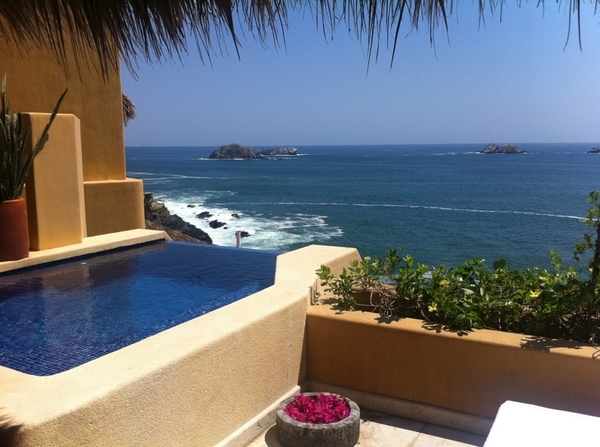 Ok. Just arrived at Capella in Ixtapa.  And this is what I&#039;m looking at from my balcony. I keep pinching myself. 