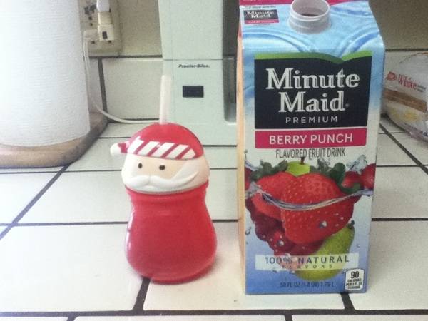Favorite juice & cup xD Well not my favorite cup...I just wanted to use this one today lol