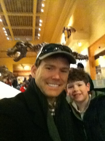 A little natural history museum stop to see the dinosaurs today