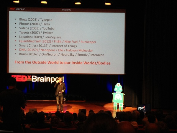 From the outside world to our inside worlds / Bodies. @vangeest @ #TEDxBrainport